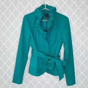 INC Voltage  Mosaic Green Blazer